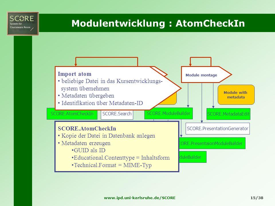 Modulentwicklung : AtomCheckIn