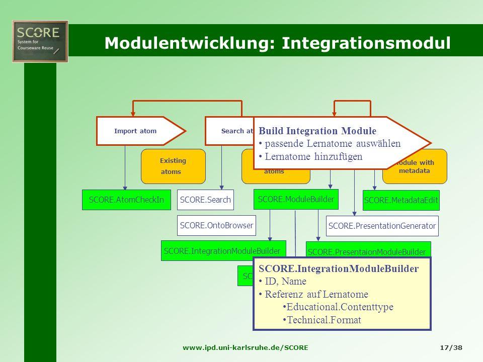 Modulentwicklung: Integrationsmodul