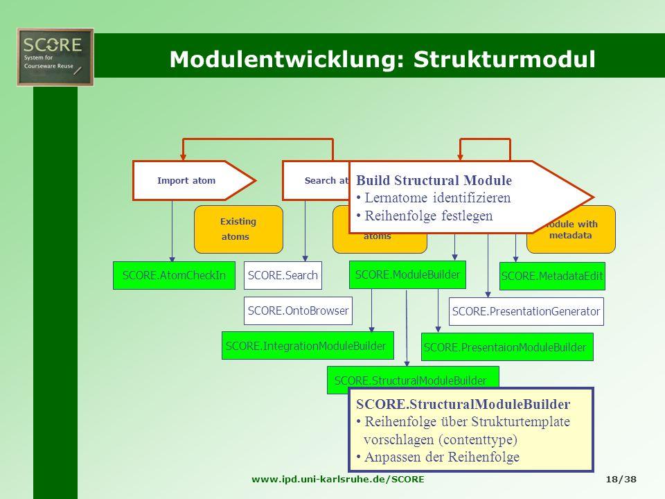Modulentwicklung: Strukturmodul