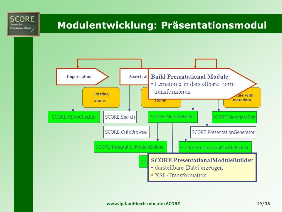 Modulentwicklung: Präsentationsmodul