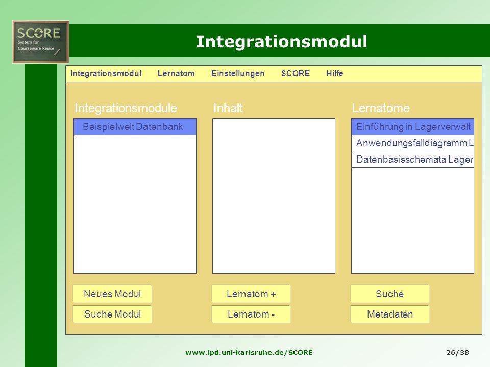 Integrationsmodul Integrationsmodule Inhalt Lernatome