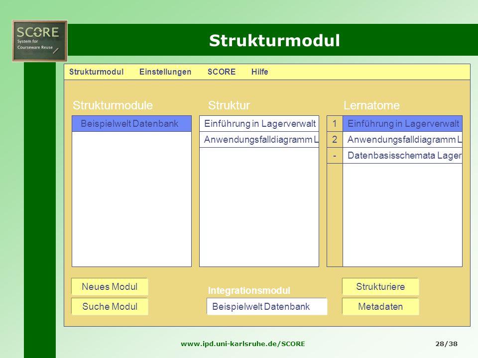Strukturmodul Strukturmodule Struktur Lernatome Beispielwelt Datenbank