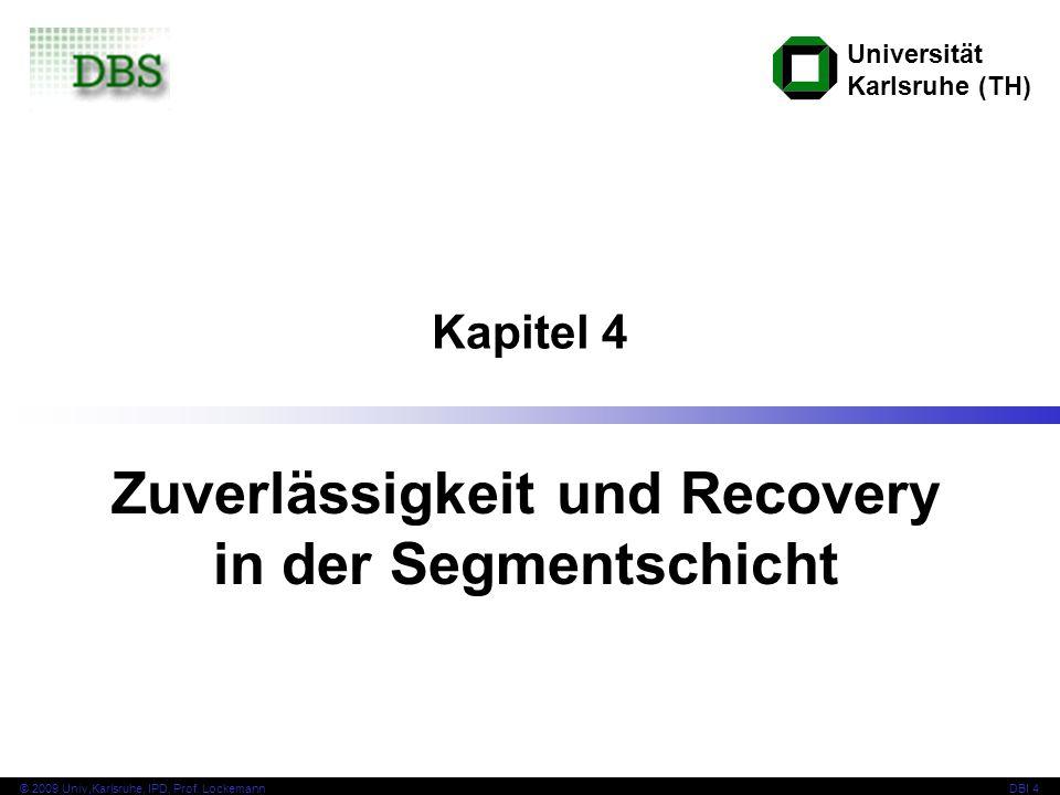Zuverlässigkeit und Recovery in der Segmentschicht