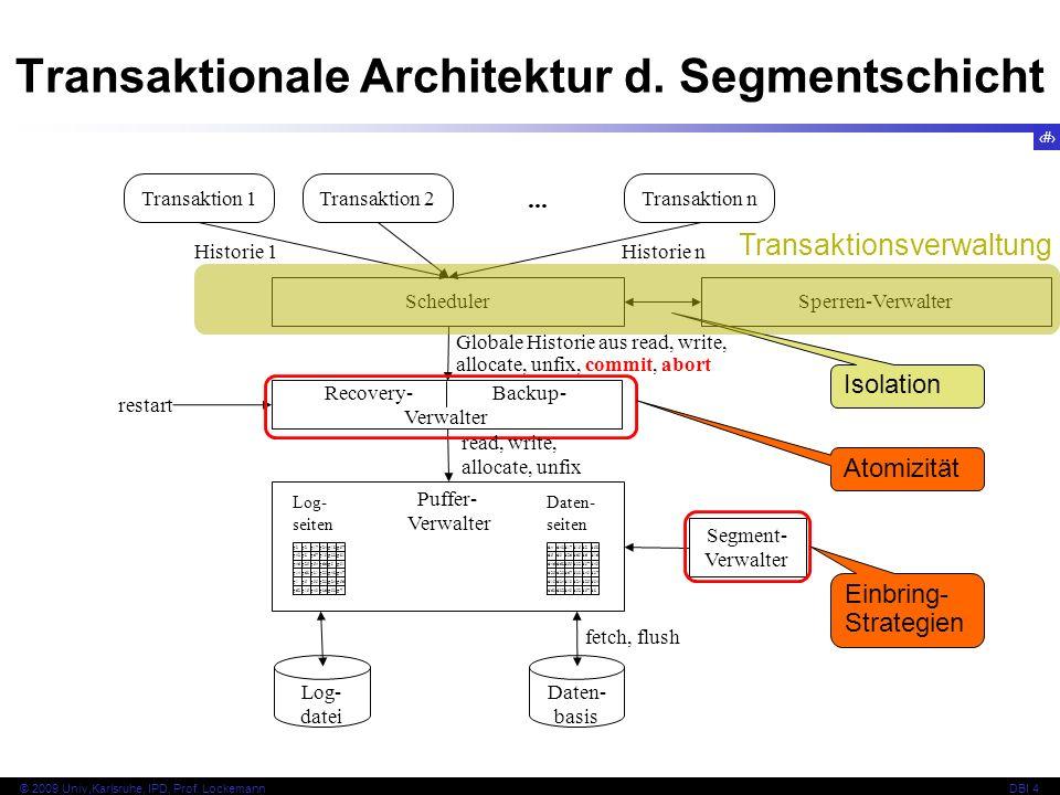 Transaktionale Architektur d. Segmentschicht
