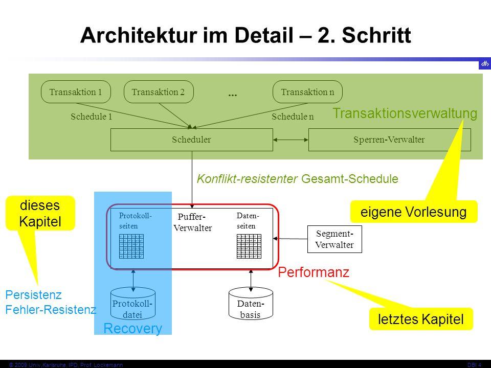Architektur im Detail – 2. Schritt
