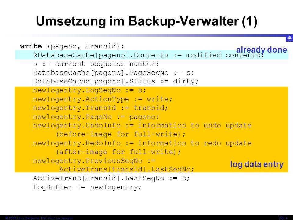 Umsetzung im Backup-Verwalter (1)