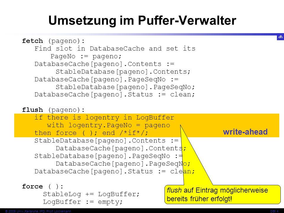 Umsetzung im Puffer-Verwalter