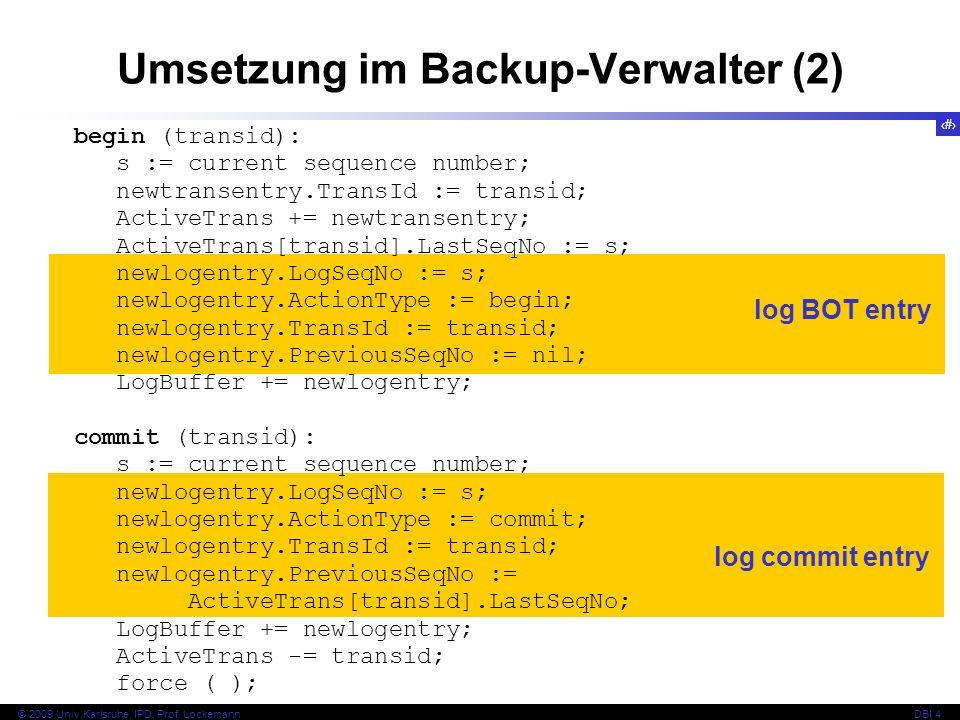 Umsetzung im Backup-Verwalter (2)