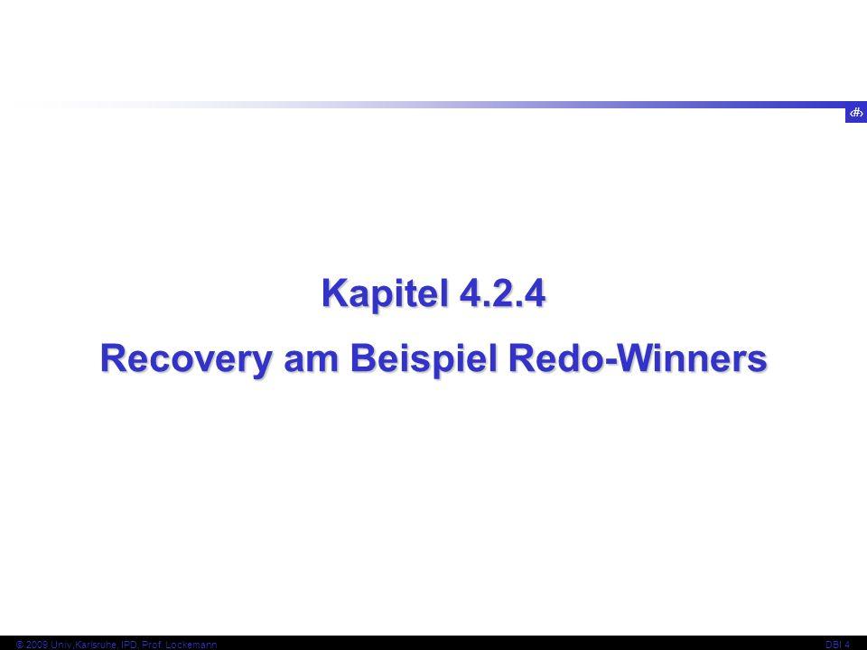 Recovery am Beispiel Redo-Winners