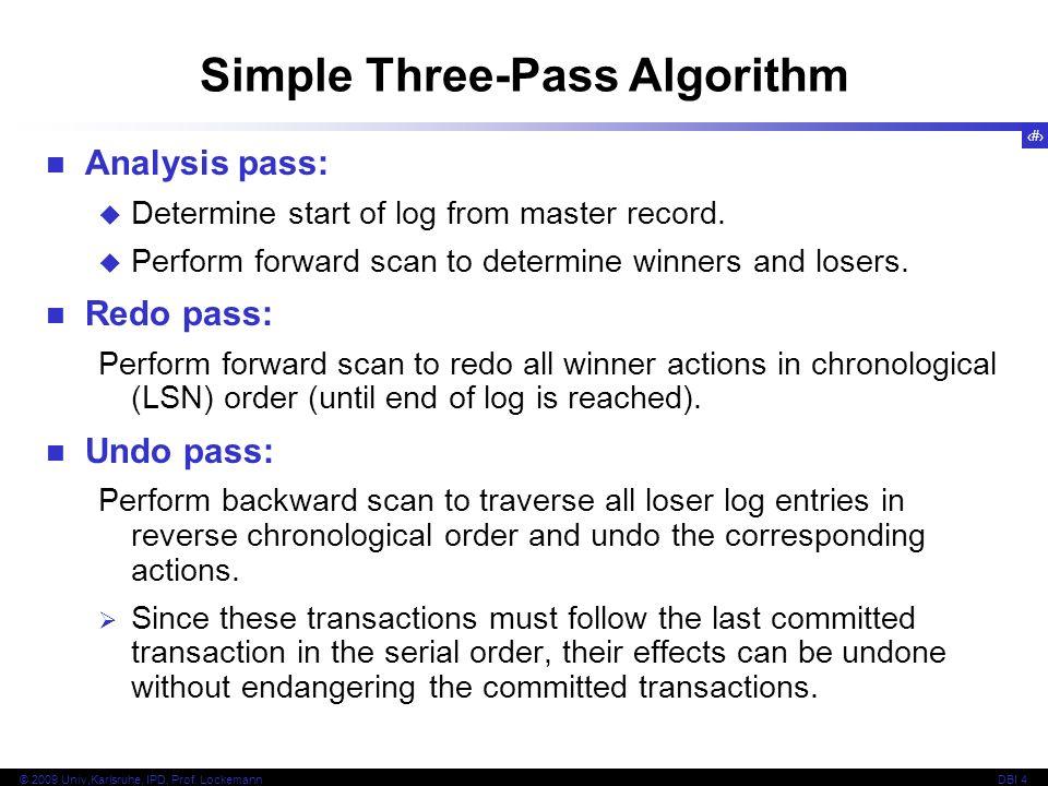 Simple Three-Pass Algorithm