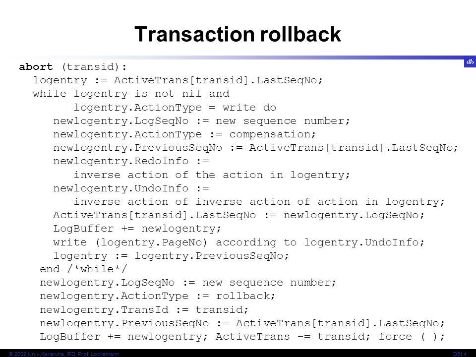 Transaction rollback abort (transid):