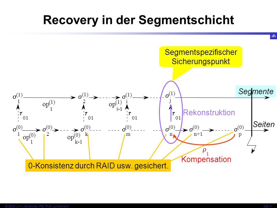 Recovery in der Segmentschicht