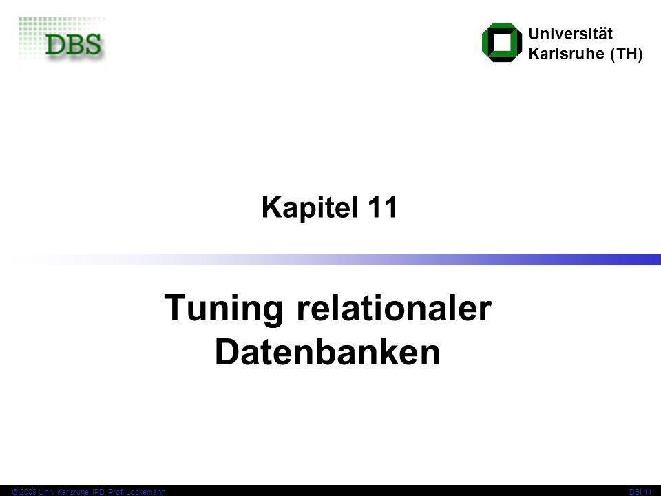Tuning relationaler Datenbanken