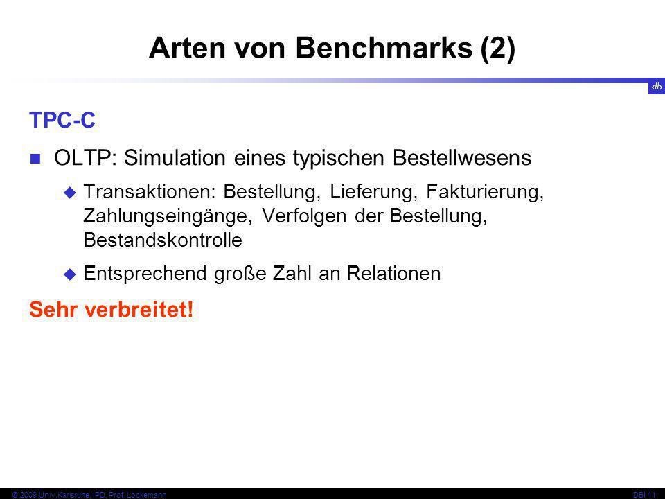 Arten von Benchmarks (2)