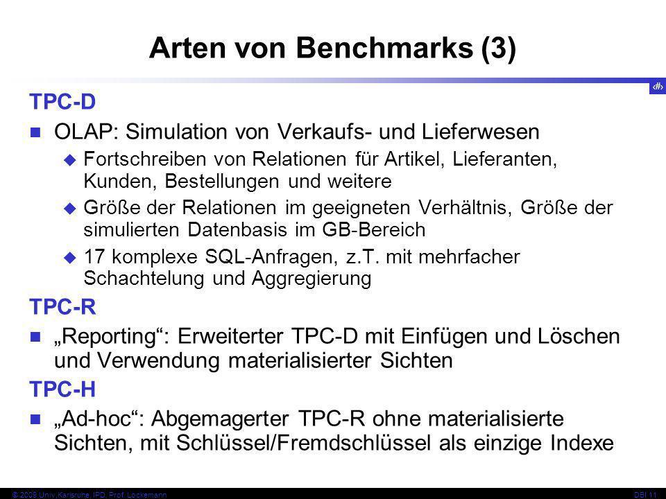 Arten von Benchmarks (3)
