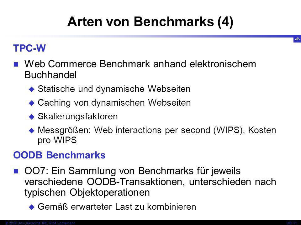 Arten von Benchmarks (4)