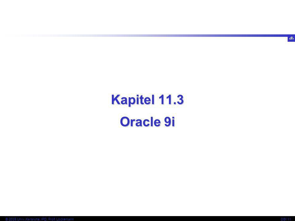 Kapitel 11.3 Oracle 9i