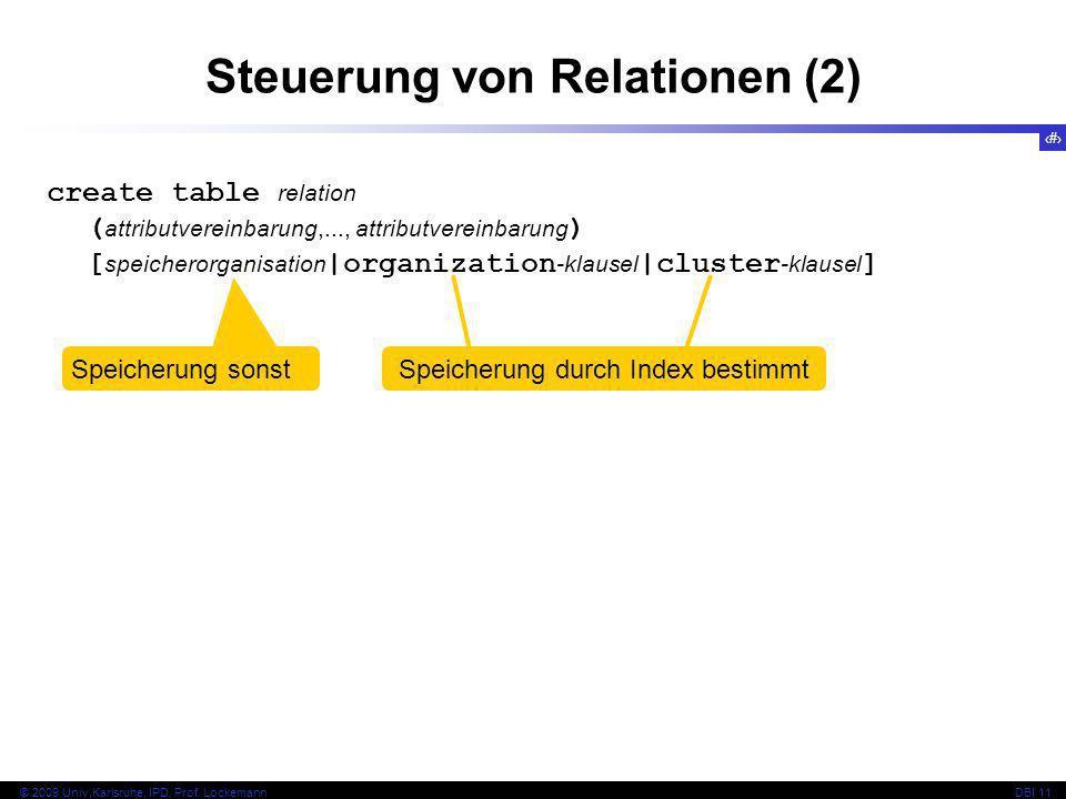 Steuerung von Relationen (2)