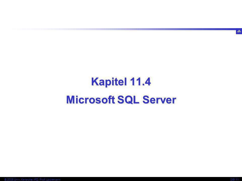 Kapitel 11.4 Microsoft SQL Server