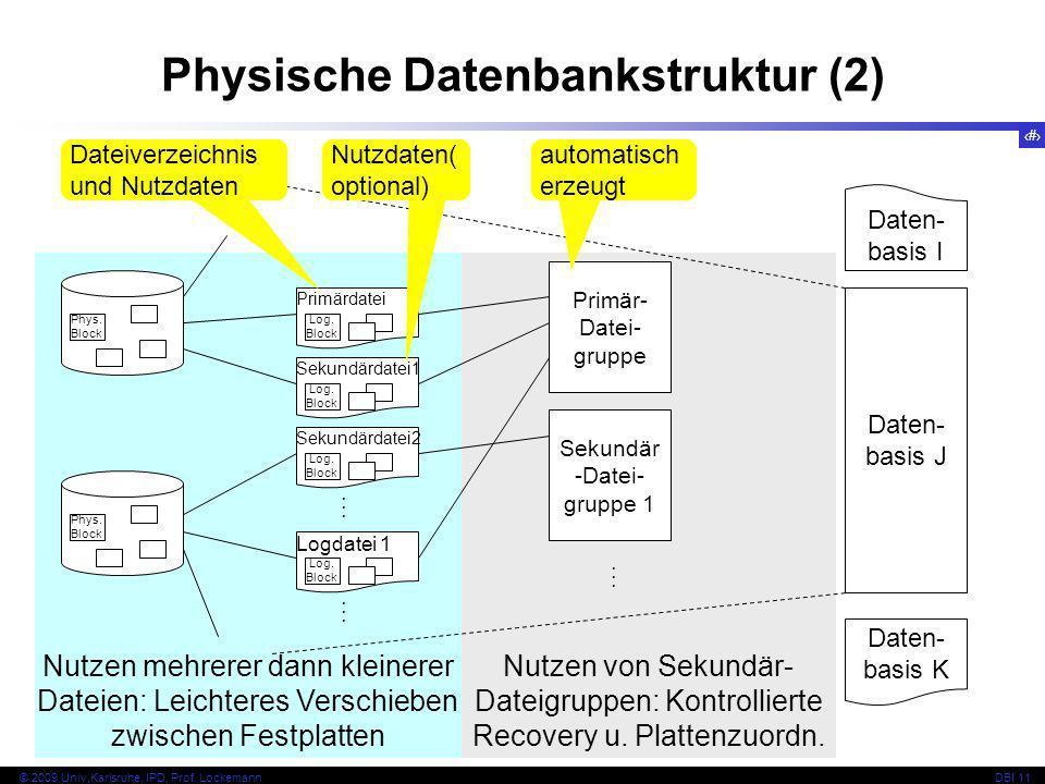 Physische Datenbankstruktur (2)