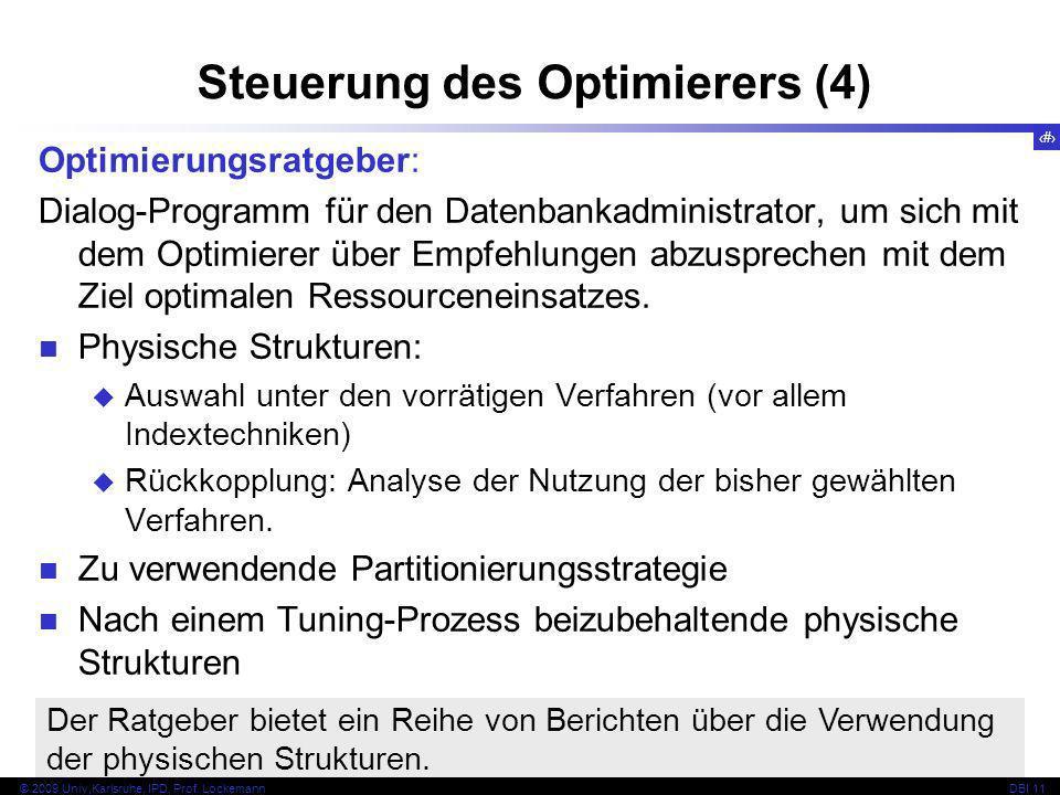 Steuerung des Optimierers (4)