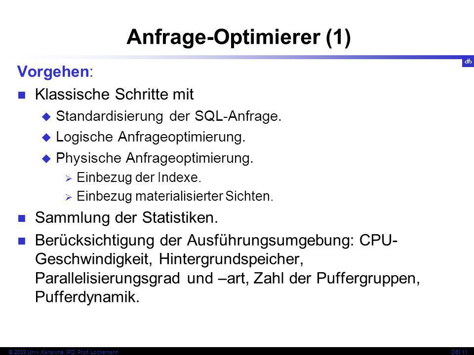 Anfrage-Optimierer (1)