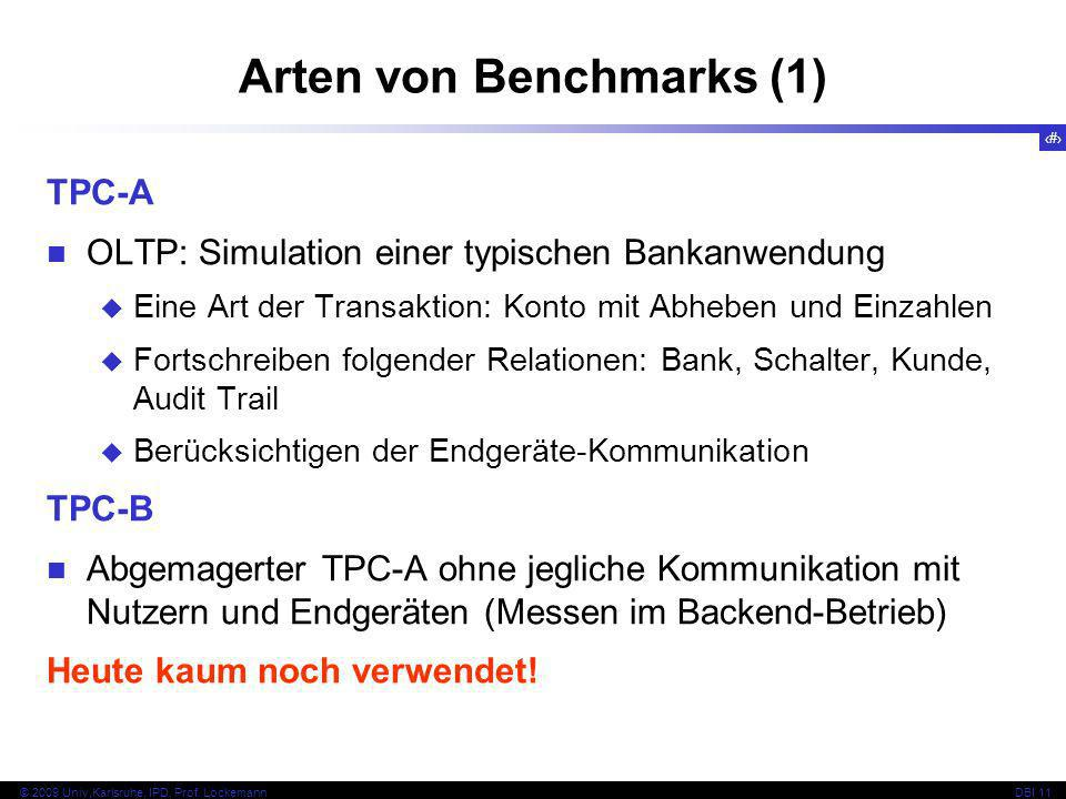 Arten von Benchmarks (1)