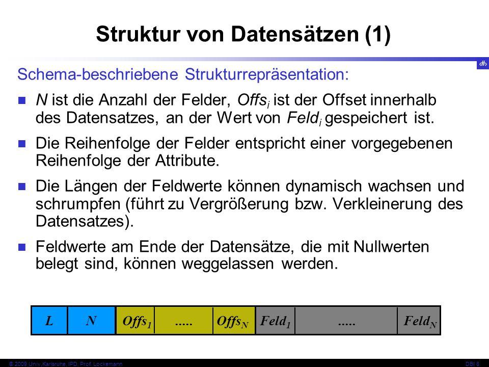 Struktur von Datensätzen (1)