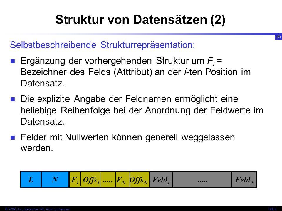 Struktur von Datensätzen (2)