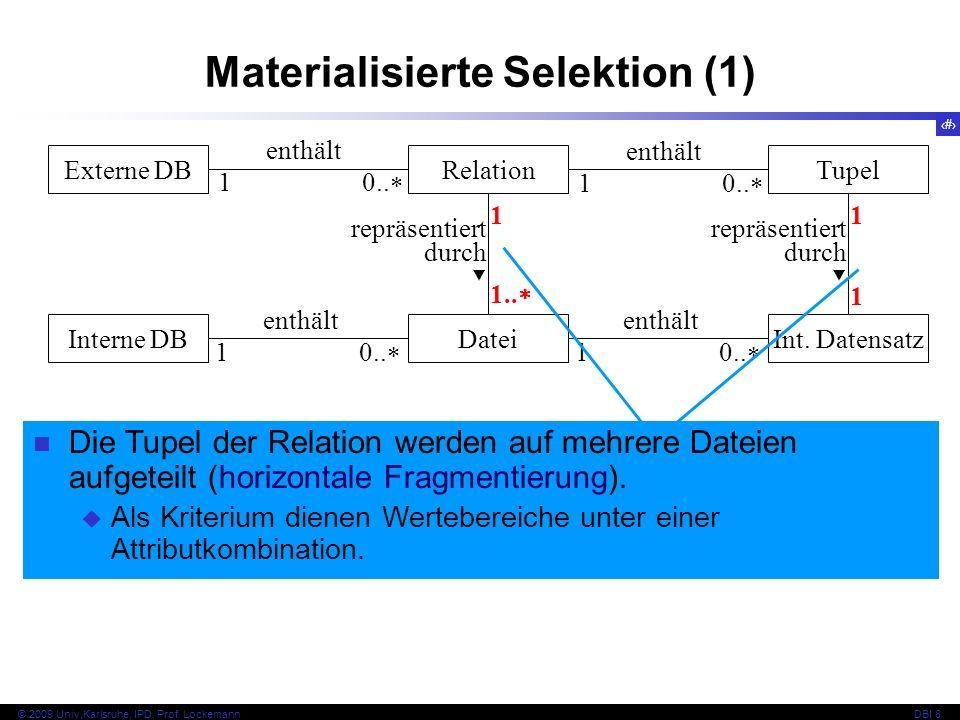 Materialisierte Selektion (1)