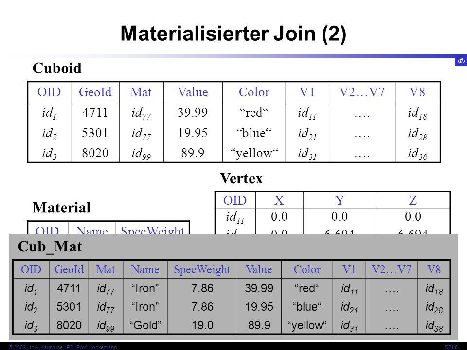 Materialisierter Join (2)