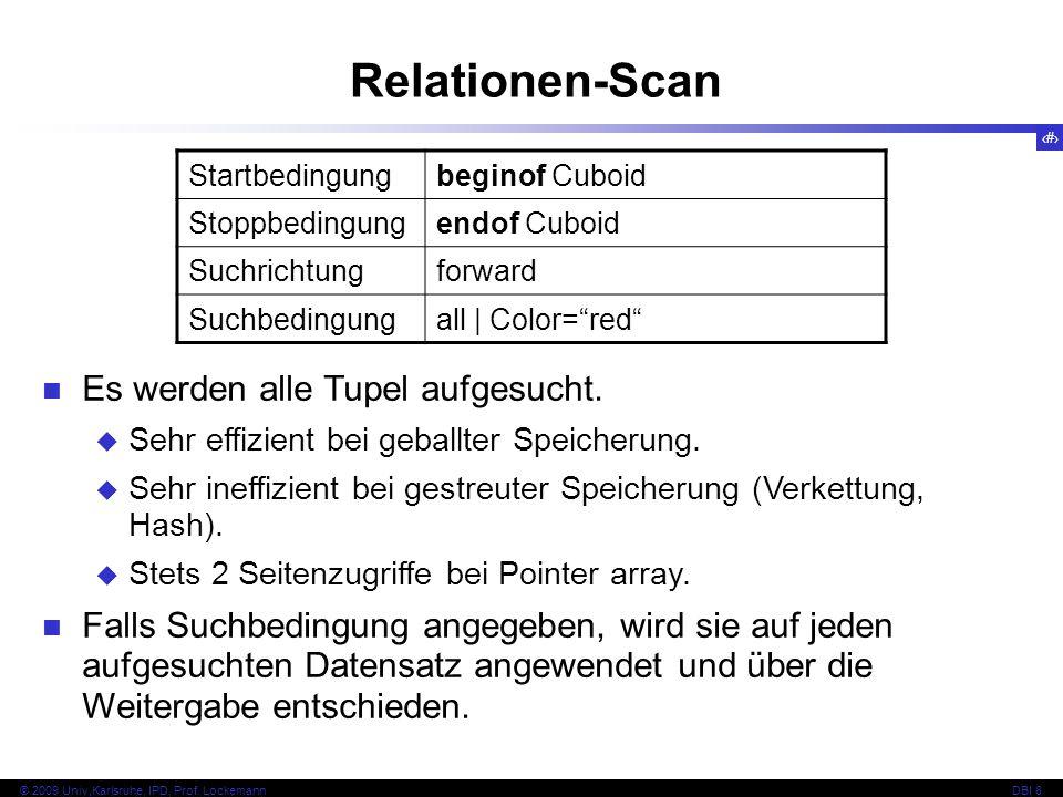 Relationen-Scan Es werden alle Tupel aufgesucht.