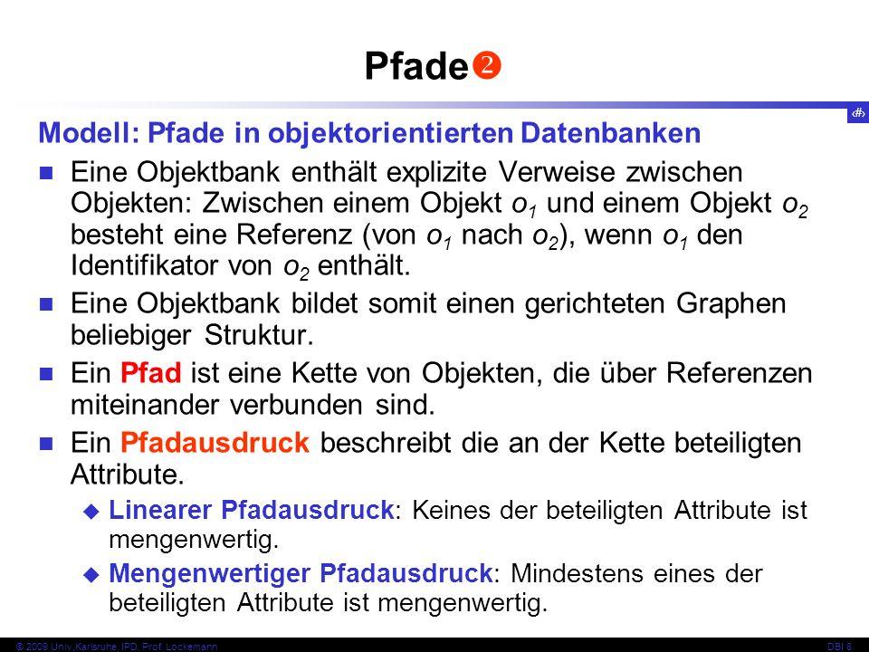 Pfade Modell: Pfade in objektorientierten Datenbanken