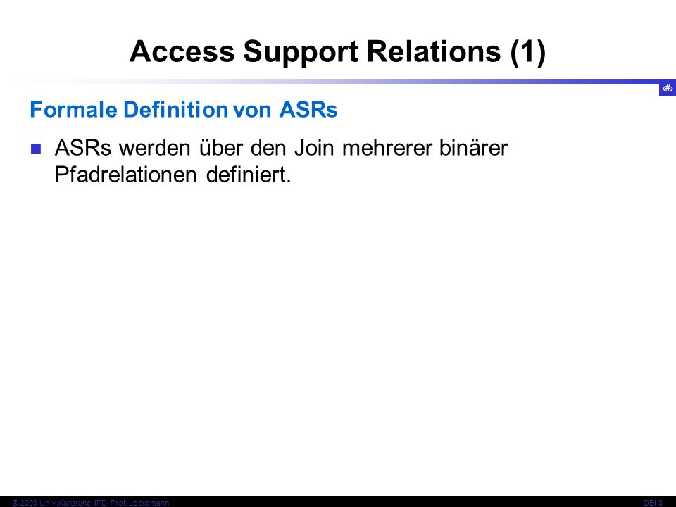 Access Support Relations (1)