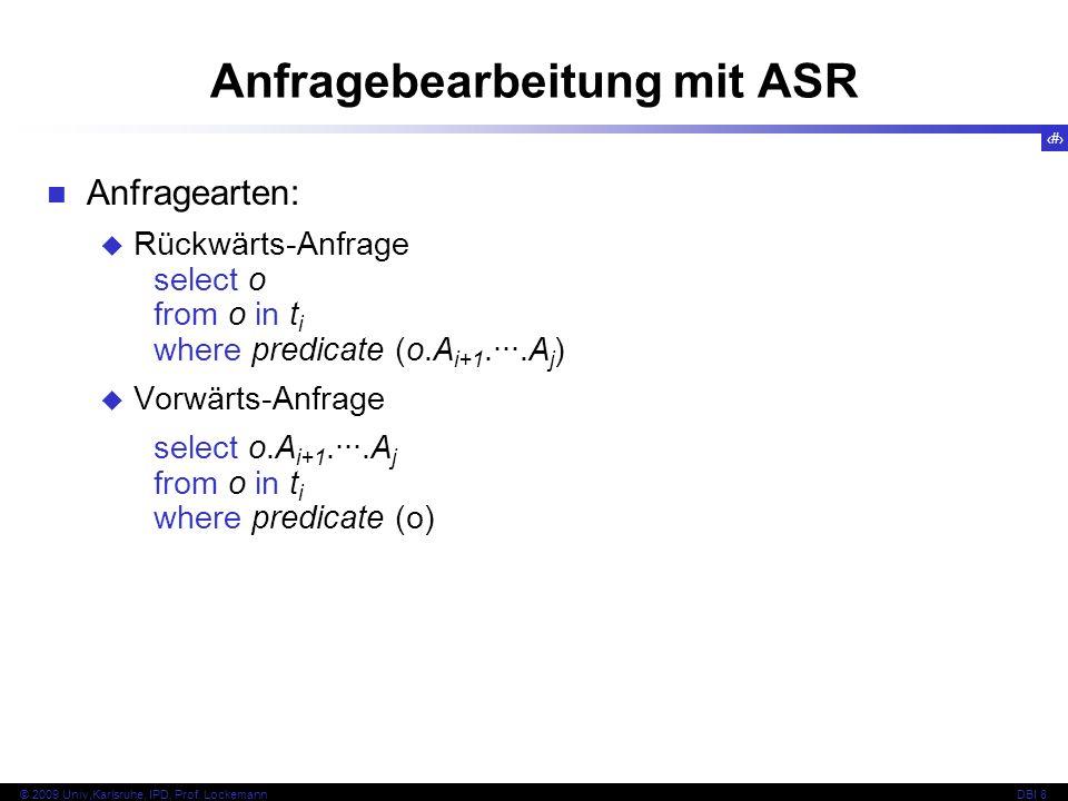Anfragebearbeitung mit ASR