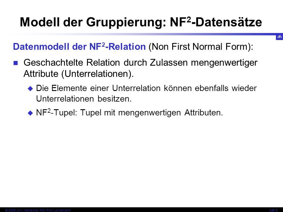 Modell der Gruppierung: NF2-Datensätze
