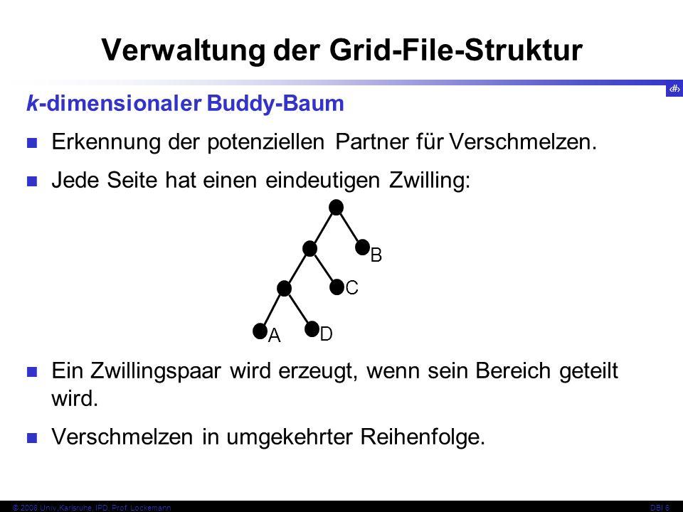 Verwaltung der Grid-File-Struktur