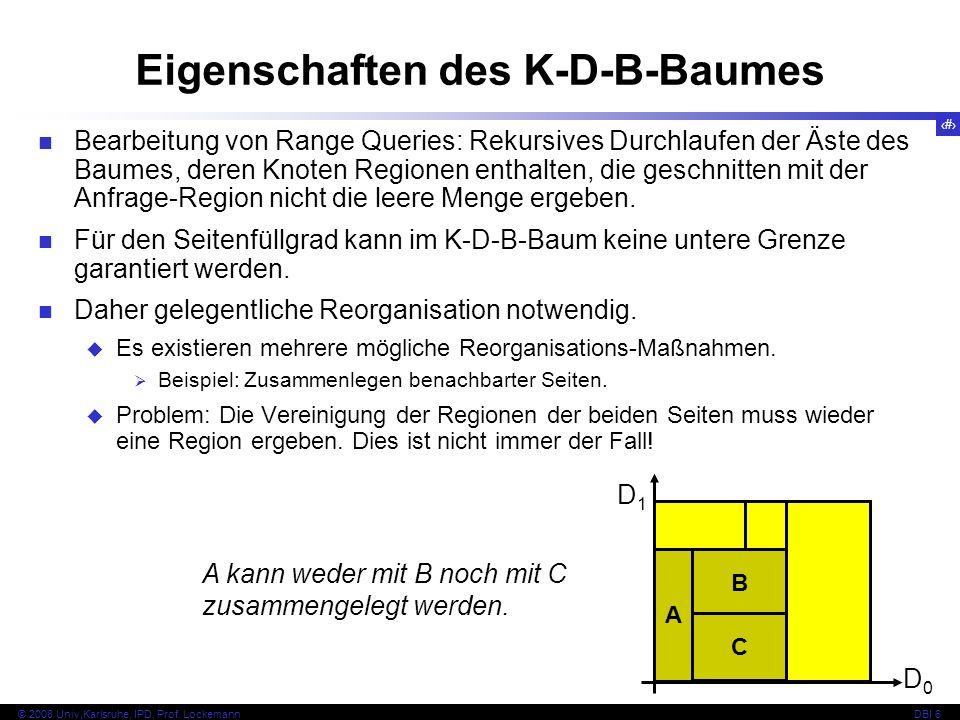 Eigenschaften des K-D-B-Baumes