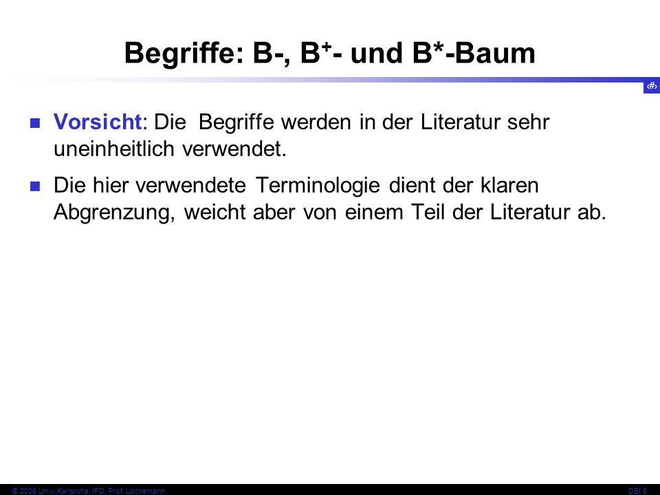 Begriffe: B-, B+- und B*-Baum