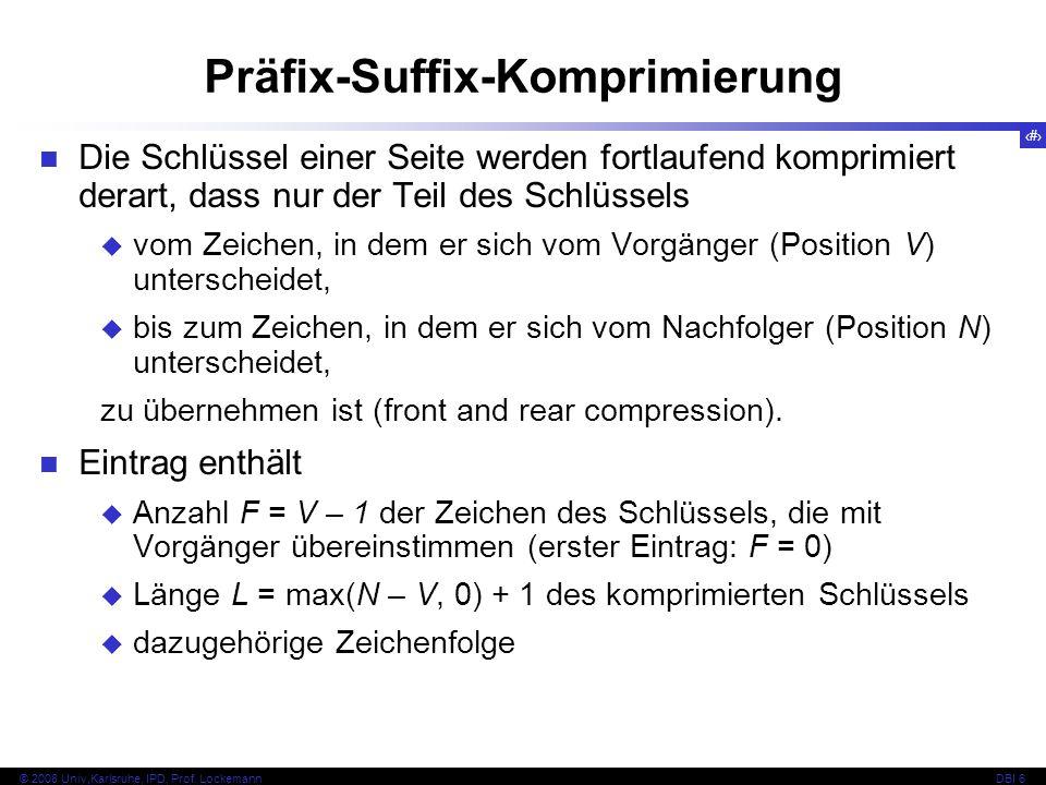Präfix-Suffix-Komprimierung