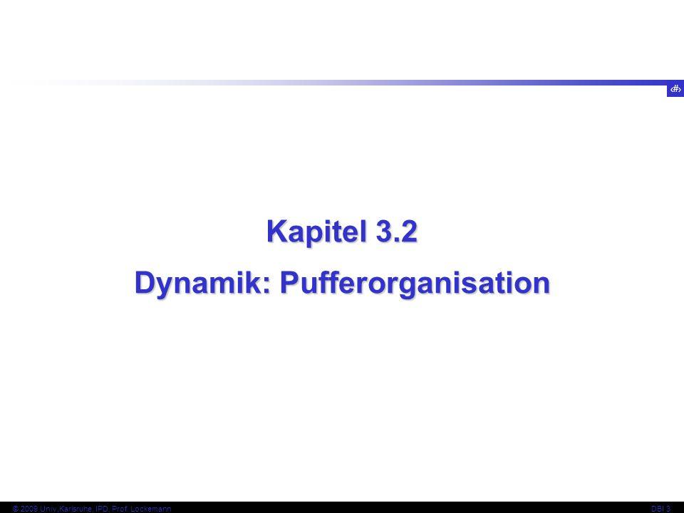 Dynamik: Pufferorganisation
