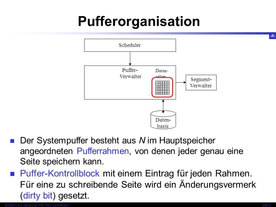 PufferorganisationScheduler. Puffer- Verwalter. d4. d43. d17. d15. d2. d58. d5. d9. d26. d69. d6. d16.