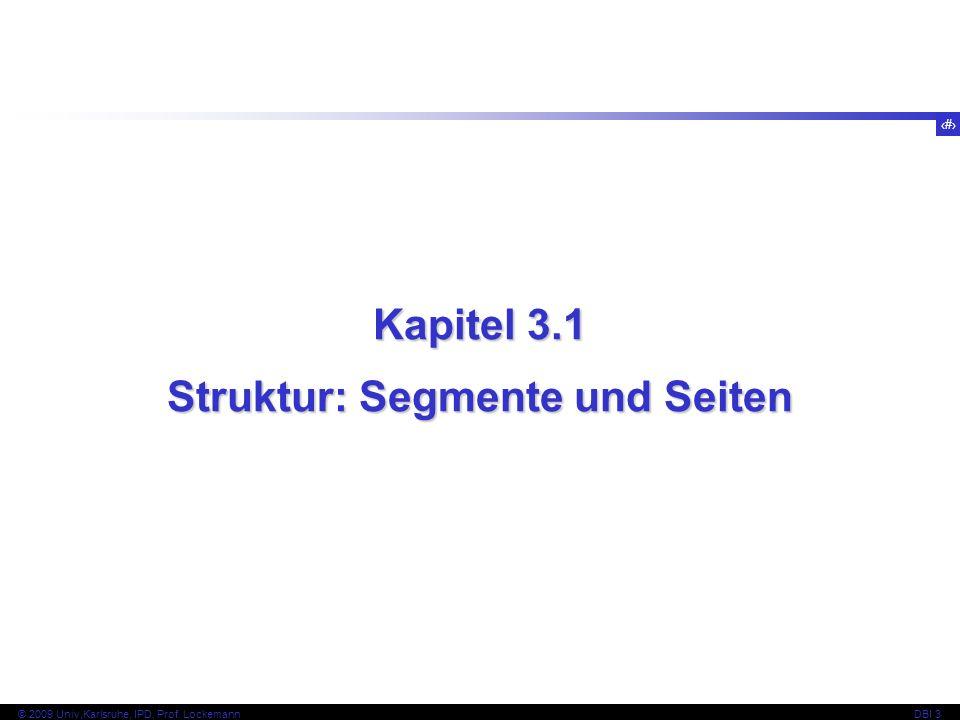 Struktur: Segmente und Seiten