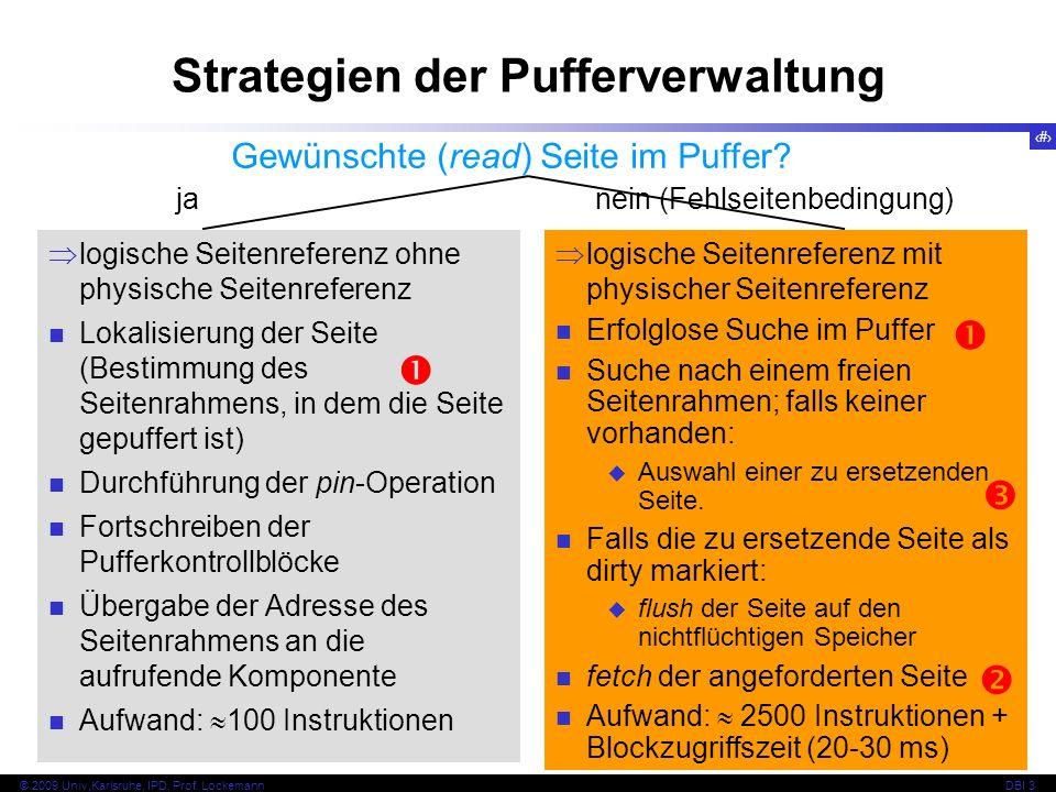 Strategien der Pufferverwaltung