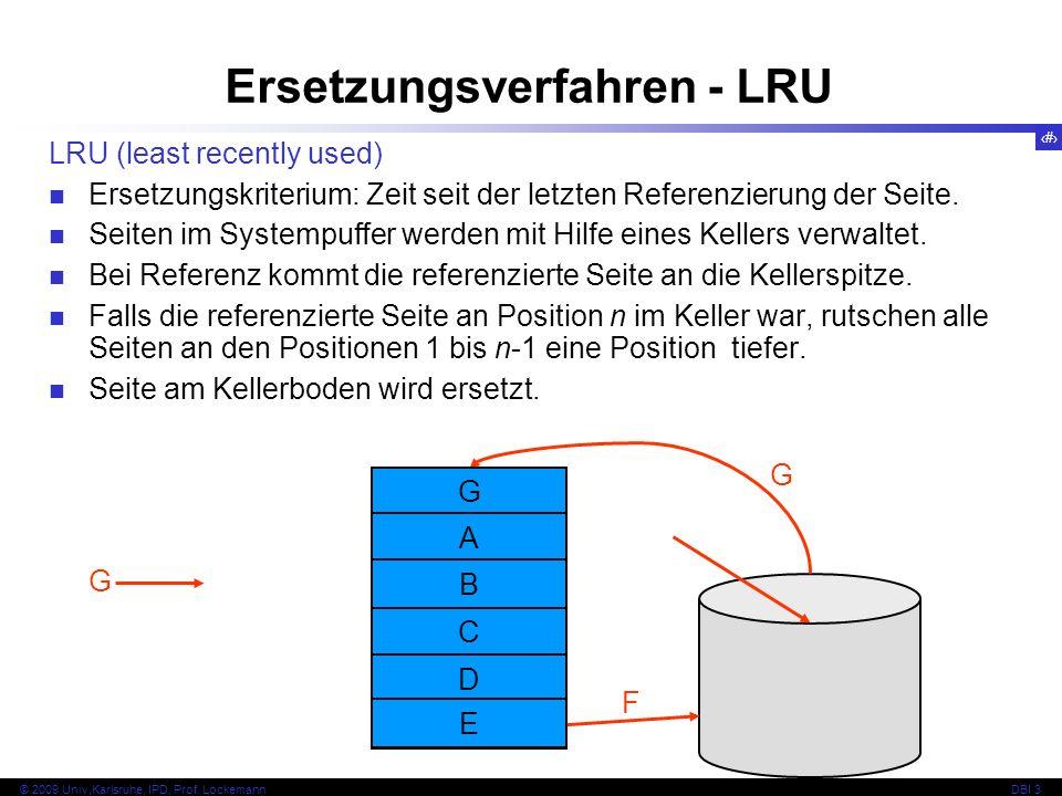 Ersetzungsverfahren - LRU