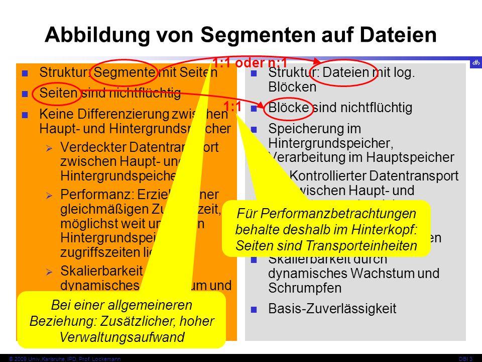 Abbildung von Segmenten auf Dateien