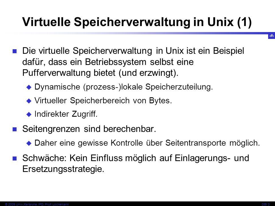 Virtuelle Speicherverwaltung in Unix (1)