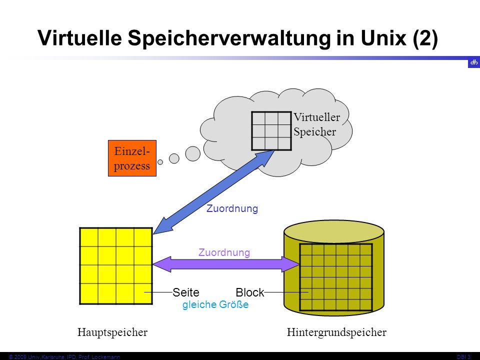 Virtuelle Speicherverwaltung in Unix (2)