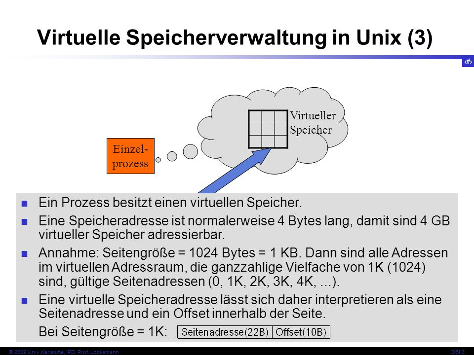 Virtuelle Speicherverwaltung in Unix (3)