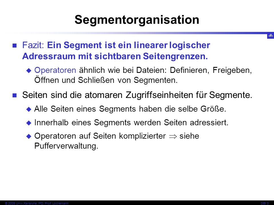 SegmentorganisationFazit: Ein Segment ist ein linearer logischer Adressraum mit sichtbaren Seitengrenzen.